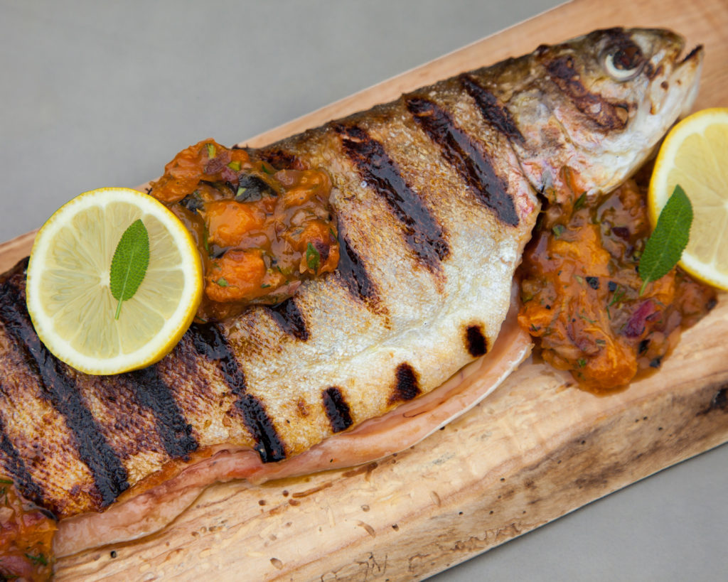Grilled Trout with Apricot Chutney from Watts on the Grill