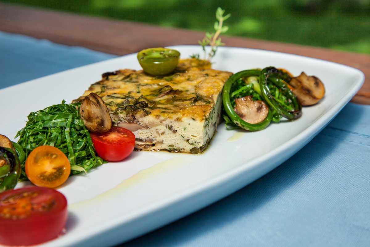 Stovetop Mushroom Frittata from Fresh Market Dinners