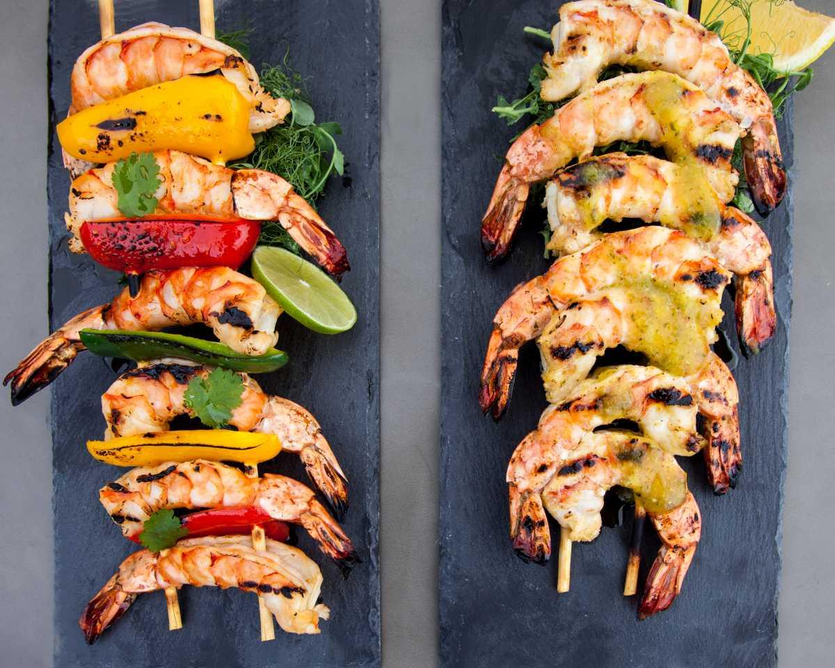 Mango Habanero Shrimp and Margarita Shrimp from Watts on the Grill