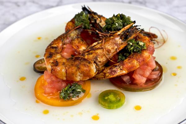 Tomato Powder Grilled Shrimp