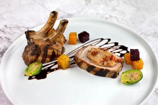 Grilled Double Bone Pork Chops