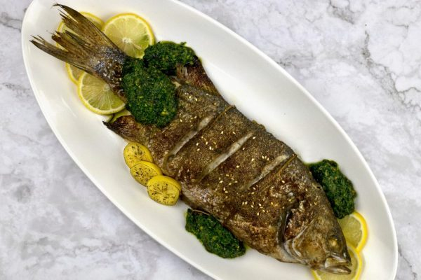 Striped Bass With Chermoula