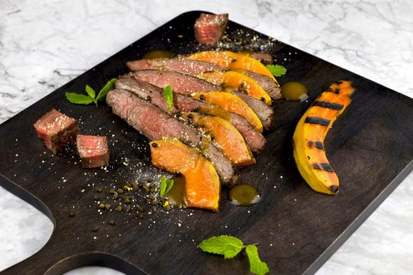 "Grilled Beef And Papaya ""Waterfall"" Salad"