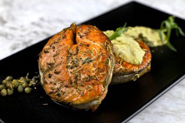 Pan Seared Salmon Steak