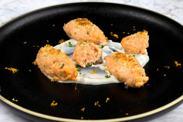 Salmon Mousse Quenelles