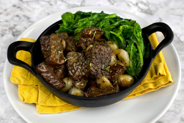 Beef Tenderloin Tips With Pearl Onions