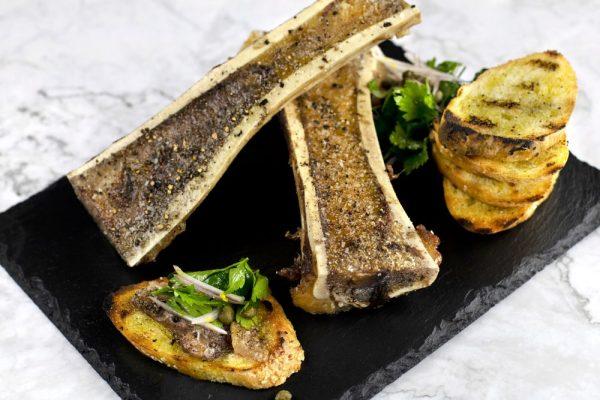 Marrow Bones With Parsley Salad