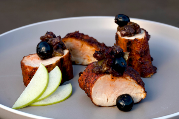 Apple Smoked Pork Tenderloin