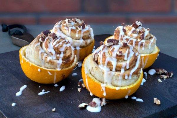 Orange Peel Cinnamon Buns