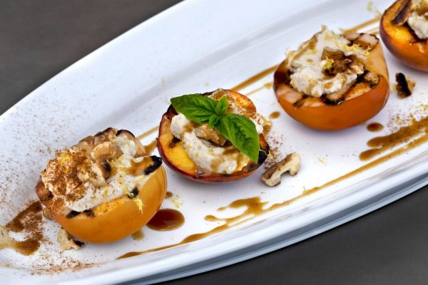 Grilled Peaches With Salted Bourbon