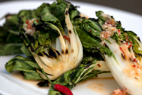 Bok Choy With Ginger Chili Sauce