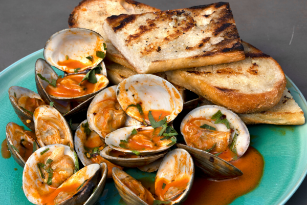 Clams With Garlic Paprika Butter
