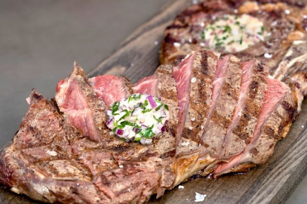 Rib Steaks With Port Butter