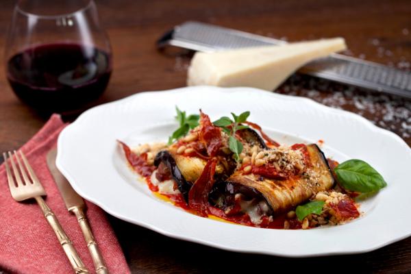 Sicilian Eggplant Parmesan Roll-ups (Involtini Di Melanzane Alla Siciliana)