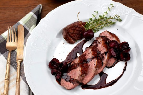 DUCK BREAST WITH BALSAMIC CHERRY SAUCE (PETTO DI ANATRA CON SALSA DI CILIEGIE)