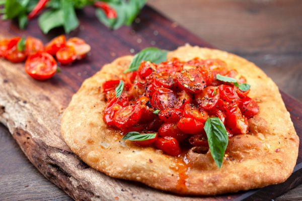 FRIED SPICY TOMATO FLATBREAD (ARVOLTOLO CON POMODORINI)