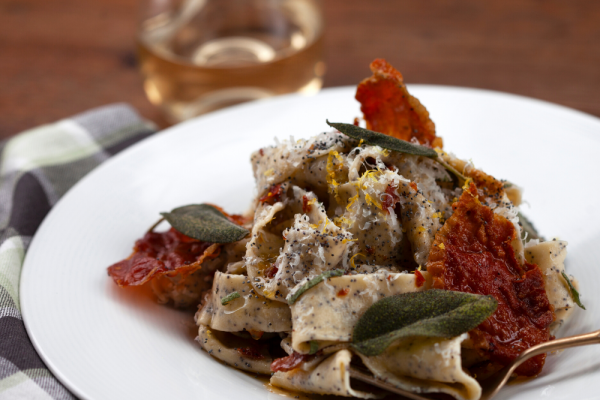 Poppy Seed, Sage And Prosciutto Pasta (Papardelle Ai Semi Di Papavero)