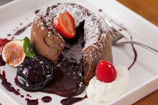 Spiced Molten Chocolate Cake