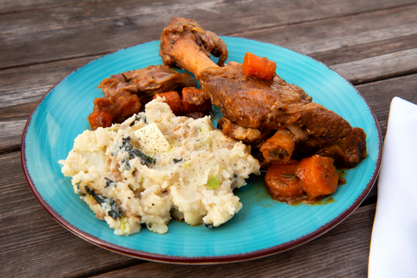 Stout and Cider Braised Lamb Shanks from DNA Dinners
