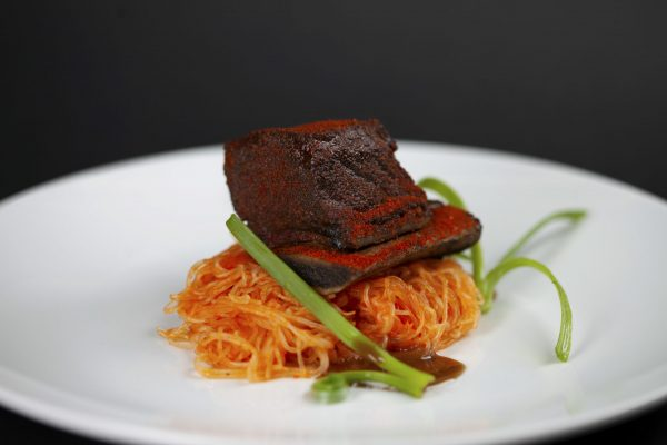 Suyadobo Beef Short Ribs with Jollof Rice Noodles from DNA Dinners
