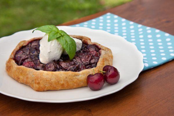 Cherry Basil Galette from Fresh Market Dinners