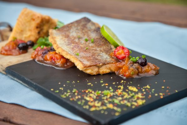 Cornmeal Crusted Rainbow Trout from Fresh Market Dinners