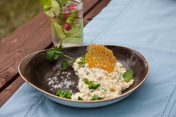 Mint Pea Risotto from Fresh Market Dinners