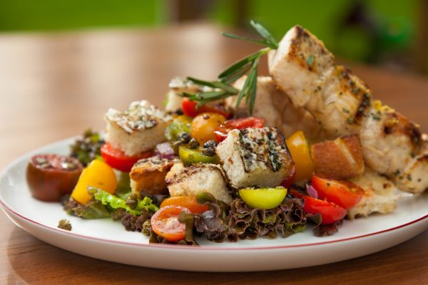 Grilled Bread Salad from Fresh Market Dinners