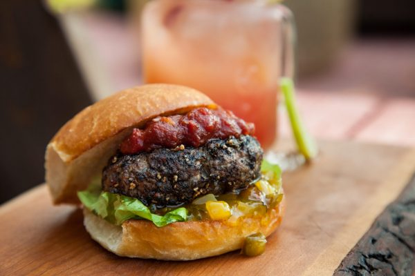 Peppercorn Crusted Burgers from Fresh Market Dinners