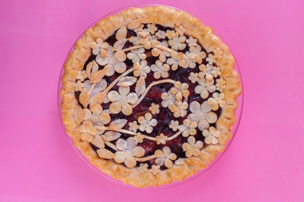 Plum Cardamom Fancy Pie from Flour Power