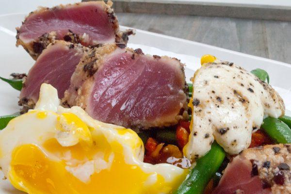 FTD_1001_Olive and Rice Cracker-Crusted Tuna with Nicoise Salad_horizontal_1