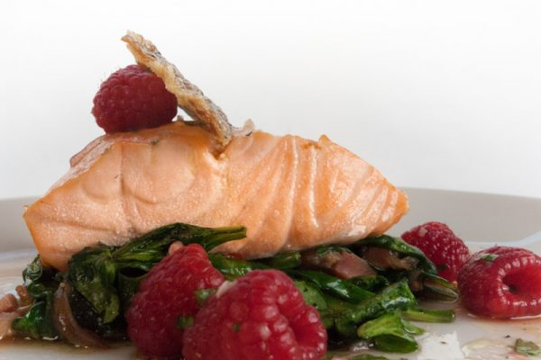 |oil poached Atlantic salmon