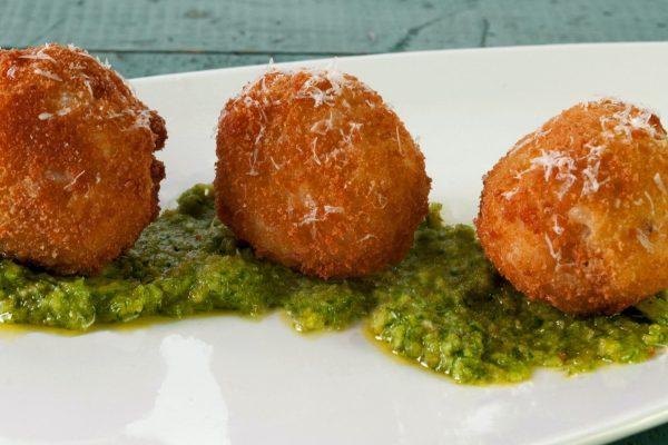 FTD_2020_Garlic and Haddock Rice Balls with Garlic Scape Puree_horizontal_ver 2