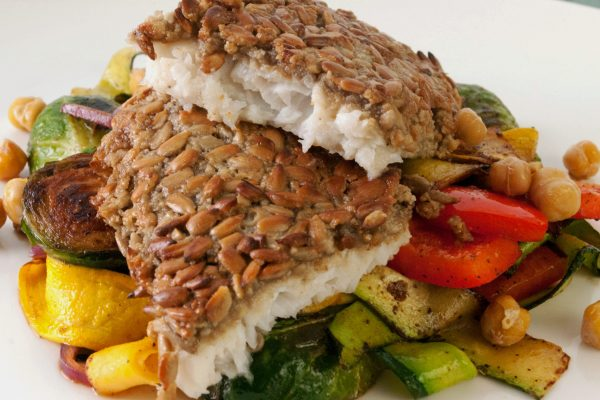 FTD_2021_Sunflower Seed Crusted Sole and Warm Roasted Chick Pea Salad_horizontal_ver 1