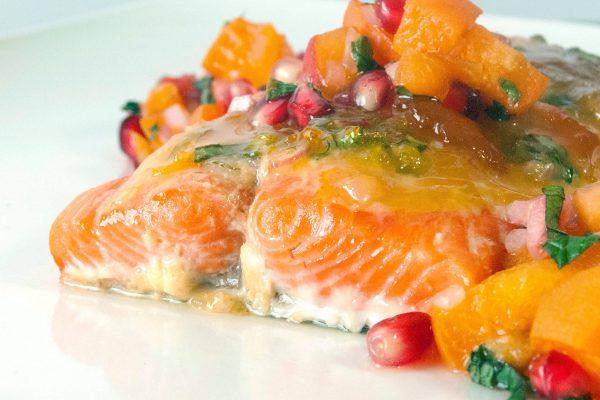 FTD_2025_Apricot Glazed Salmon with Pomegranate Salsa_horizontal_ver 1