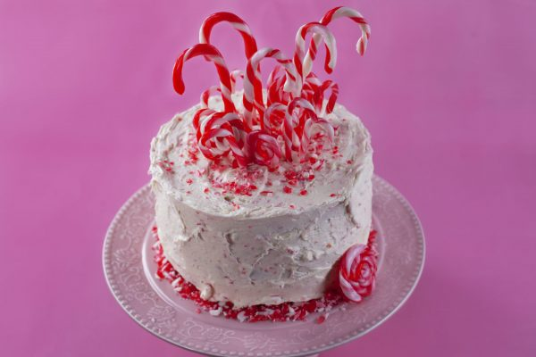 Candy Cane Cake from Flour Power Christmas: Big Wow Desserts
