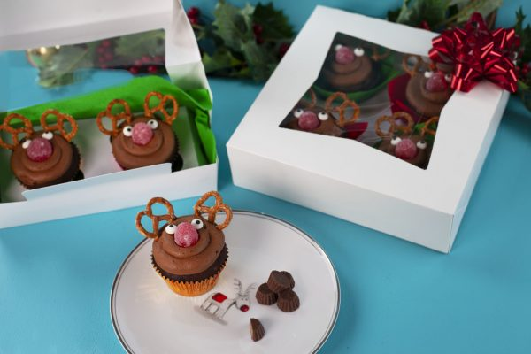 Reindeer Cupcakes from Flour Power Christmas: Edible Gifts