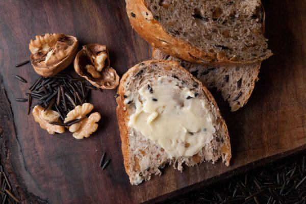 |Walnut and wild rice bread