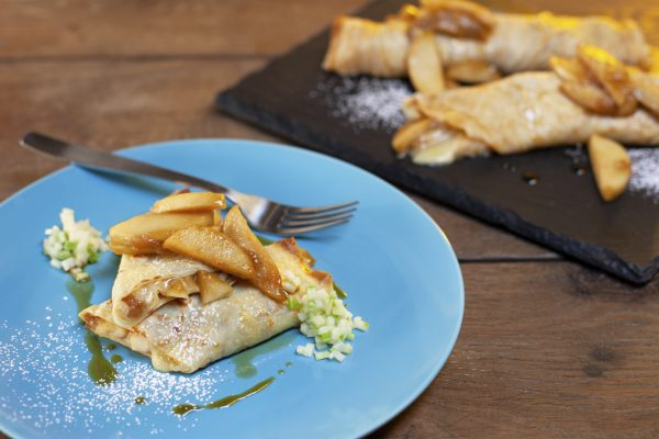 Apple Cheddar Crepes from Let's Brunch