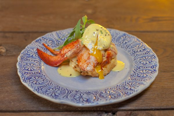 Lobster Eggs Benedict from Let's Brunch