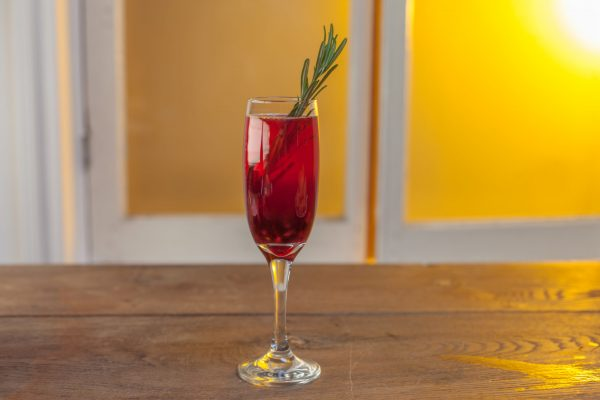 Rosemary Pomegranate Fizz from Let's Brunch