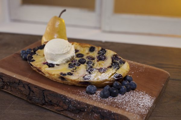 Pear and Blueberry Clafouti from Let's Brunch