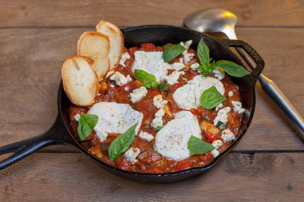 Ratatouille with Baked Eggs from Let's Brunch