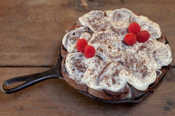 Sticky Chocolate Skillet Buns from Let's Brunch