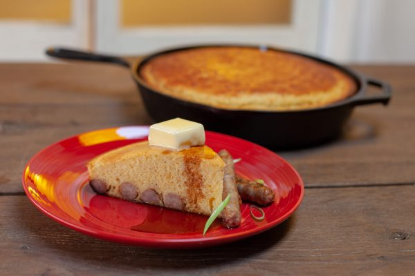 Breakfast Sausage Cornbread from Let's Brunch