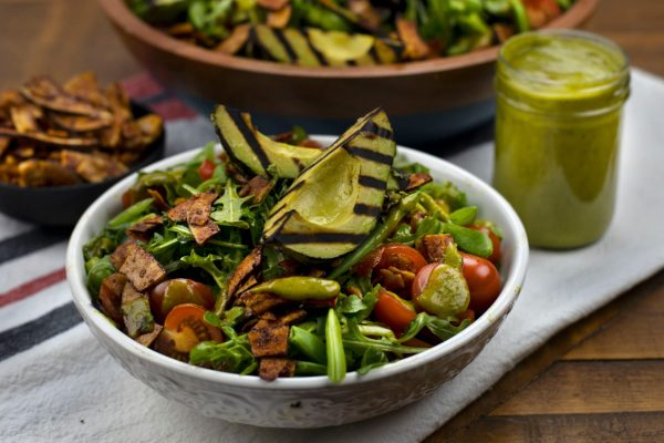 Vegan BLT Salad with Avocado