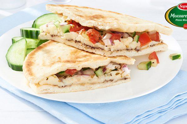 Pressed Greek Salad Pita Sandwich