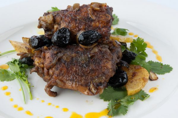 |Moroccan chicken with olives and lemons