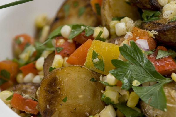 Roasted Corn and Pepper Potato Salad from Road Grill