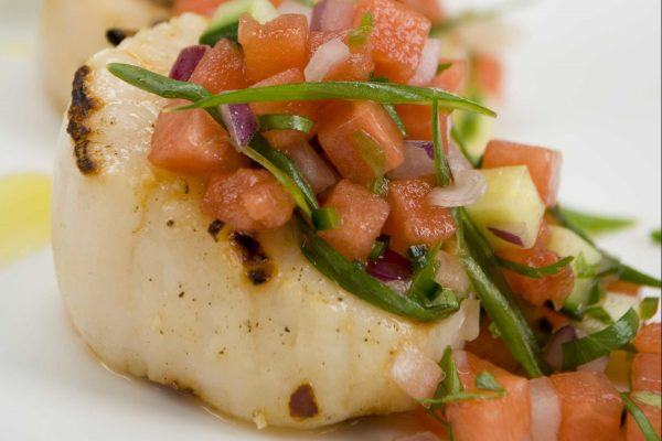 Grilled Scallops with Watermelon Salsa from Road Grill